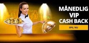 Manedlig vip cash back